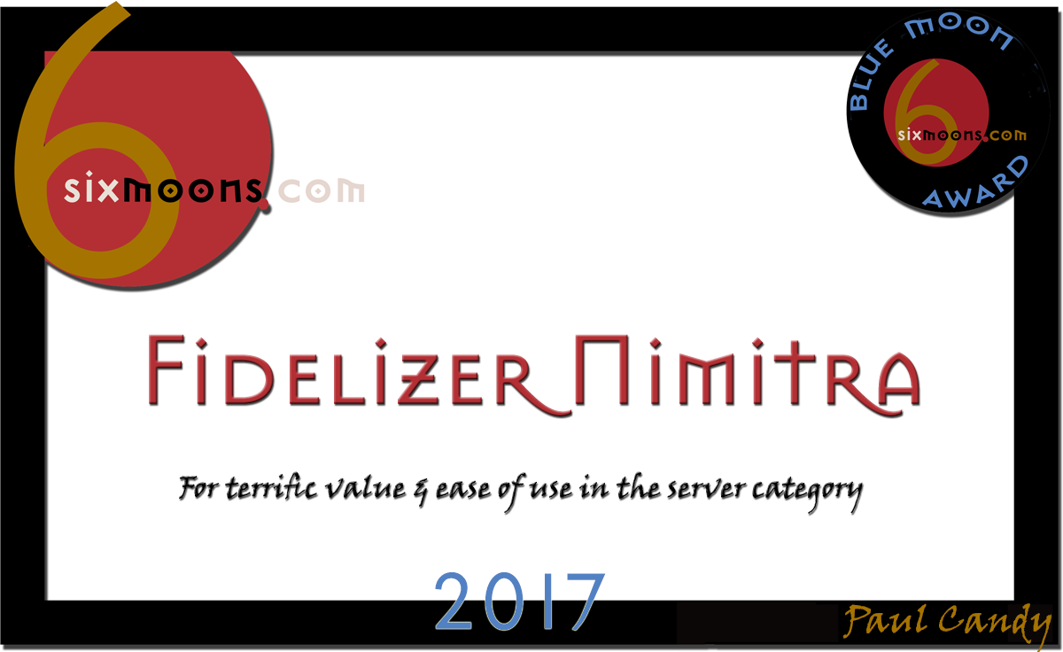6moons Blue Moon Award 2017 per Fidelizer Nimitra